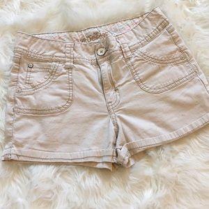 🔥$5 bundle item Justice girls khaki shorts 12 reg